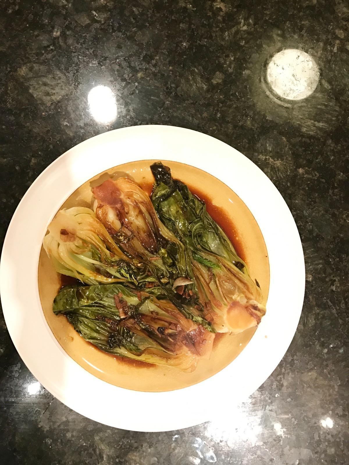Sesame-Garlic Baby Bok-Choy